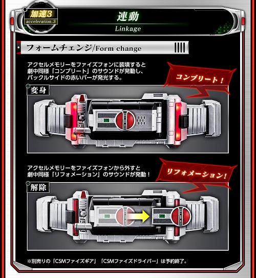 仮面ライダー555『CSMファイズアクセル』