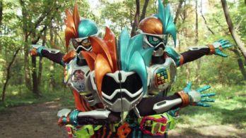 『仮面ライダーエグゼイド』のダブルアクションゲーマー レベルX(ゆるキャラ)とゲンム ゾンビゲーマー レベルXは戦力互角!