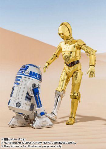 国内 最高峰 STARWARSフィギュアブランドS.H.Figuartsに、大人気キャラクターC-3POとR2-D2が満を持して登場!
