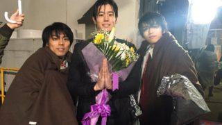 仮面ライダーエグゼイド トリロジーで飯島寛騎さん・岩永徹也さん・小野塚勇人さんがオールアップ!最後の撮影は雨のシーン