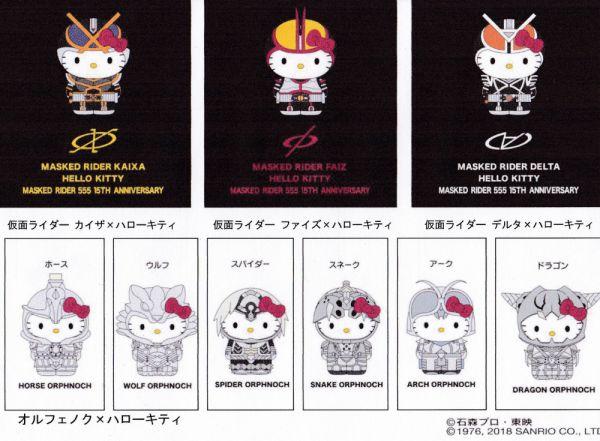 『仮面ライダー555』と『ハローキティ』のコラボ商品化が発表!