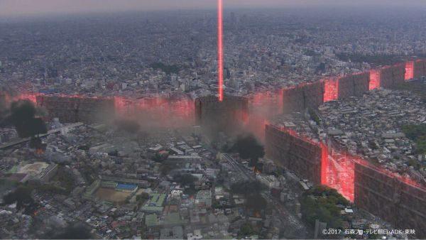 スカイウォールの変貌途中の様子からの「パンドラタワー」に!
