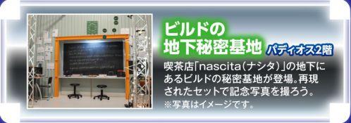 仮面ライダービルドの地下秘密基地が映画村「仮面ライダーワールド」に登場!