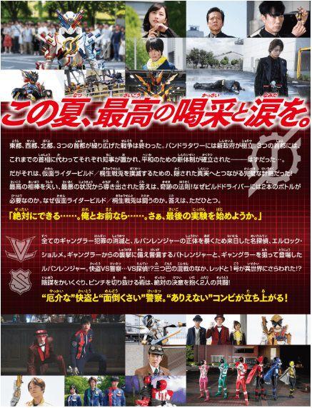 『劇場版 仮面ライダービルド &ルパパト』公式サイトのイントロ