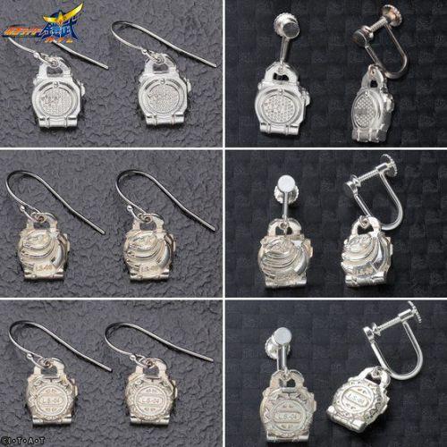 仮面ライダー鎧武 ロックシード silver925製 プチアクセサリー イヤリング/ピアス