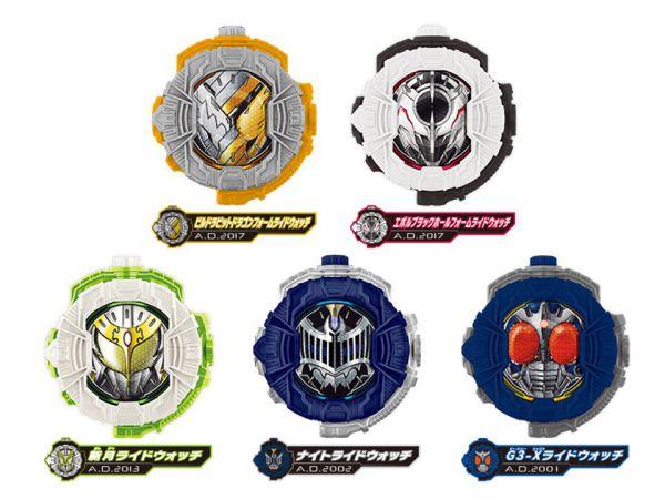 『仮面ライダージオウ』2月発売SG&GPライドウォッチに、G3-X、ナイト、斬月、ビルドラビットドラゴン、エボルブラックホール