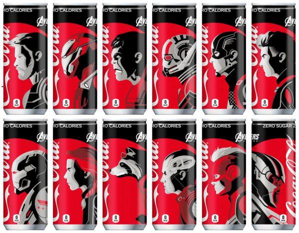 『アベンジャーズ/エンドゲーム』公開記念「コカ・コーラ ゼロ 限定デザイン缶」全12種