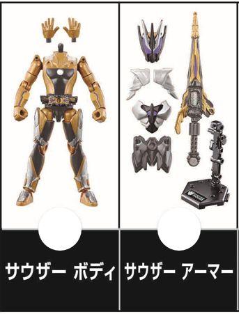 「装動 仮面ライダーゼロワン AI 05」に仮面ライダーサウザーがラインナップ