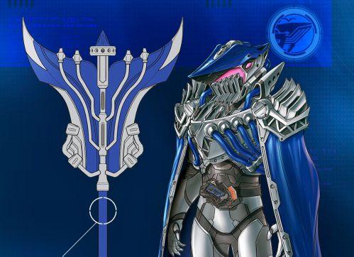 仮面ライダーゼロワン「スプラッシングホエールレイダー」のデザイン画が公開!扇形の武器オウギガントで猛烈なビッグウェーブ!