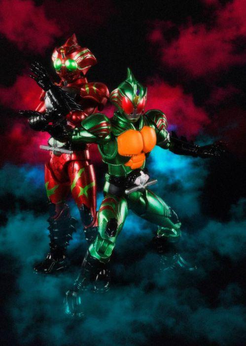 「SHODO-X 仮面ライダー」第9弾は『仮面ライダーアマゾンズ』オメガ、アルファ+『アマゾン』ジャングラー!