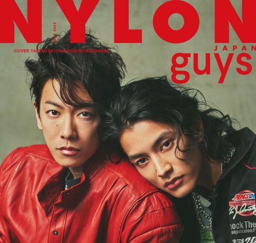 「NYLON JAPAN」5月号のguys表紙は佐藤健さん&渡邊圭祐さん!付録は2人のミニフォトカード!仮面ライダー電王&ウォズ♪
