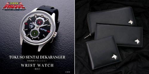 特捜戦隊デカレンジャーの腕時計、本革財布3種が受付開始!インナーの〇×マークや引手のS.P.Dマークがアクセント!