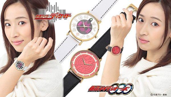 『仮面ライダーオーズ』割れたタカメダルのレディース腕時計
