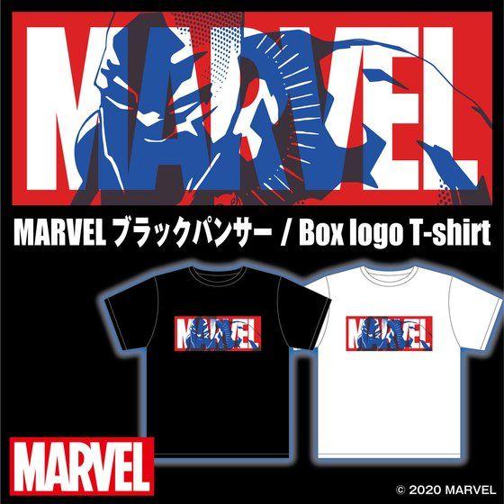 Marvel BOX logo Tシャツブラックパンサー/Black Panther