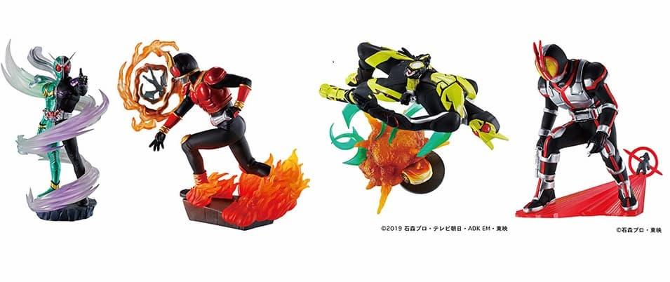 「プチラマシリーズ 仮面ライダー Legend Rider Memories」が2022年2月発売!クウガ・ファイズ・W・ゼロワンの全4種
